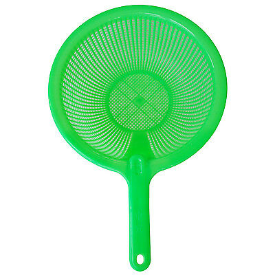 Plastic Long Handle Rice Colander Strainer Filter Green LW