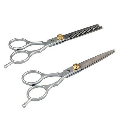 2 X steel Barber Hair Cutting & Thinning Scissors Shears Hairdressing LW