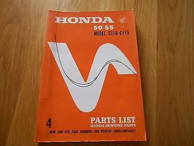 Honda , 50 55 C110 C115, Parts list book catalogue diagrams