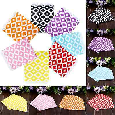 25X Honeycomb Wedding Birthday Sweet Candy Favour Treat Paper Bags 6Color