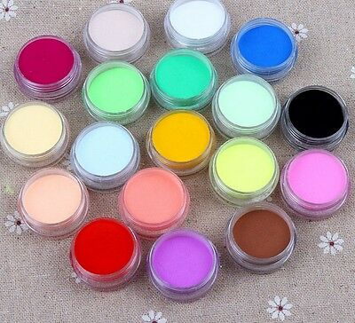 Nail Art 12 Colors Acrylic Crystal Polyme Powder for Liquid Glitter UV GEL Set S