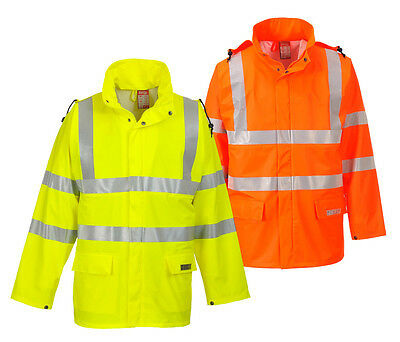 Portwest FR41 Mens FR Jacket Hi Vis Flame Retardant Waterproof Sealtex Workwear