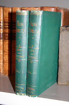 2v 1882 FRANK FORESTER'S Life & Writings Hunting Fishing Sporting Free Ship