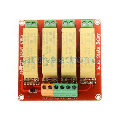 4 Channel SSR Solid State Relay low Trigger 5A 0-2V DC-DC Arduino Uno R3