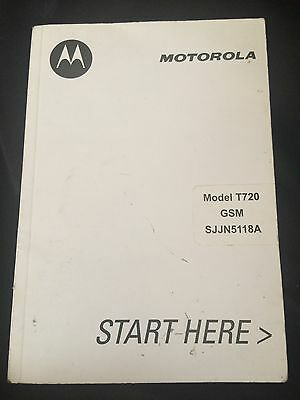 MOTOROLA Model T720 GSM wireless Cell Phone User Guides
