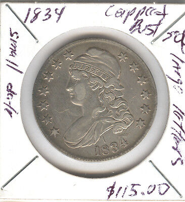 1834 Capped Bust Half Dollar Large Letters Small Date