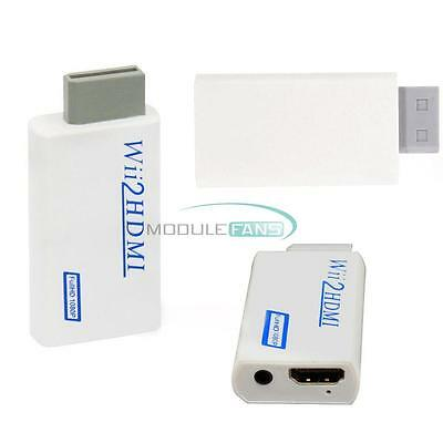 For Wii to HDMI Wii2HDMI Full HD Converter Adapter 3.5mm Audio Output Portable