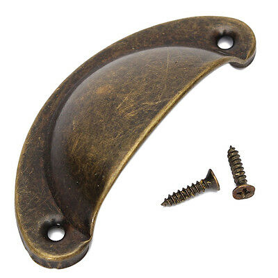 shell grip handle Furniture handle brass finish antique burnished TS