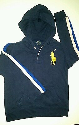 Boys size 14 Ralph Lauren Polo Navy Blue Hoodie EXC Cond