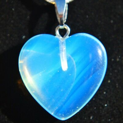 "Perfect Pendant™ Radiant Opalite Heart Pendant + 20"" Chain by ZENERGY GEMS™"