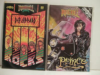 Rock 'N' Roll Comics 2 issue bundle #5 DEF LEPPARD & #21 PRINCE (FREE GIFT/SHIP)