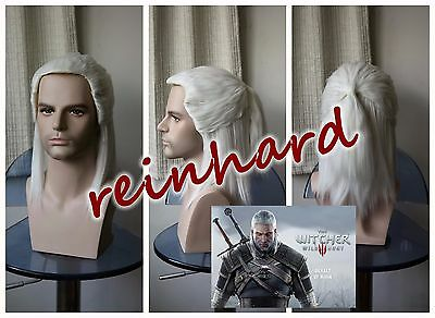 The Witcher 3: Wild Hunt -Geralt of Rivia cosplay anime Full Wig