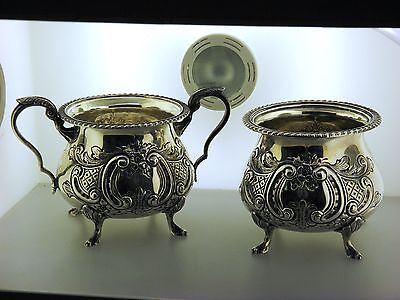 Sterling Silver  Sugar & Candy Dish Set By Fina Cr.1930.