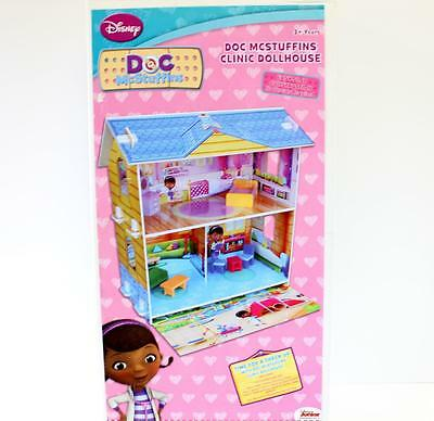 Disney Doc McStuffins Wooden Clinic Dollhouse 2 Story Over 68cm Tall