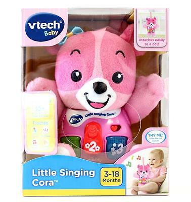 Vtech Baby Little Singing Cora Pink Cuddly Musical Plush Toy New