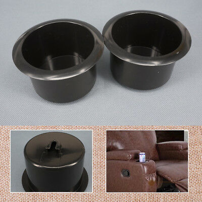 2pcs Replacement Black Plastic Cup Holder fit for Sofa Couch Poker Tables Boats