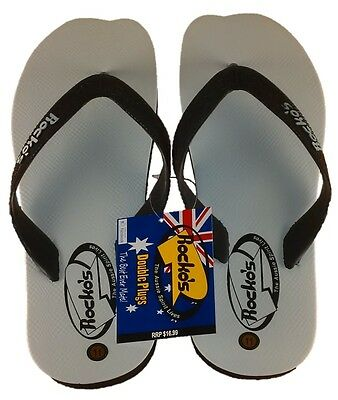 Rocko's Double-Plug Thongs Quality Comfortable & Practical Tradies Open Footwear