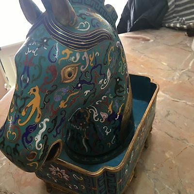 Very Beautiful and Large Vintage Chinese Cloisonne Figural Horse Head.