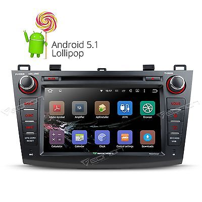 """GA6163F Android 5.1 8"""" 2DIN Car DVD Player GPS CD Stereo for Mazda 3 2010-2013 M"""