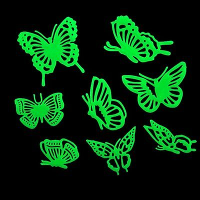 Home Decal Glow In The Dark Bedroom Wall Fluorescent Stickers (Butterfly) LW