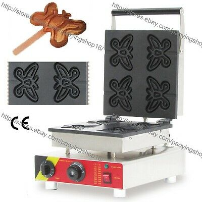 Commercial Nonstick Electric Butterfly Waffle on a Stick Maker Iron Baker Machin