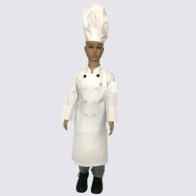Kids Chef Complete Uniforms Set - Kids Chef costumes - Jacket+Pant+Hat+Apron