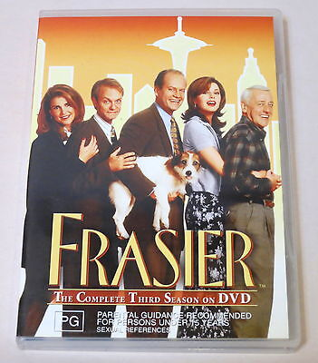 Frasier: The Complete Third Season Used 4 Dvd Set Very Good Condition