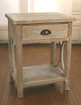 2 x French Provincial White Wash Bedside Tables Chest with Drawer Brand New