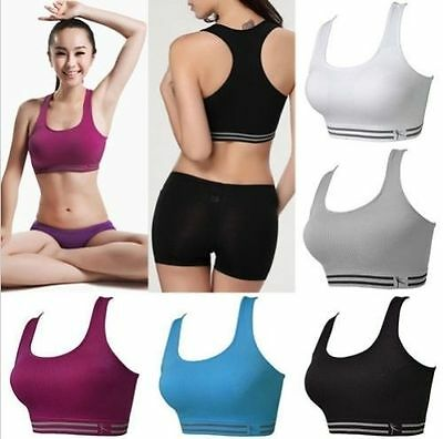 Yoga Sports Bra Stretch Running Gym Padded Fitness Workout Tank Top Seamless KG