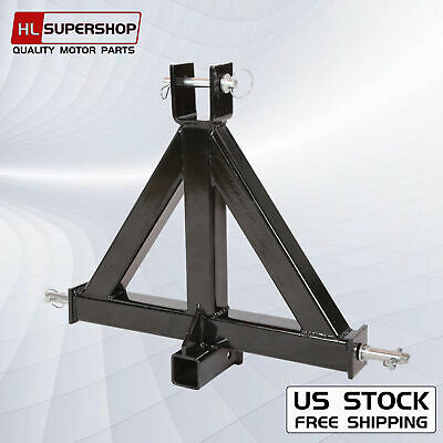 """Heavy Duty 3 Point 2"""" Receiver Trailer Hitch Category 1Tractor Tow Drawbar Pull"""