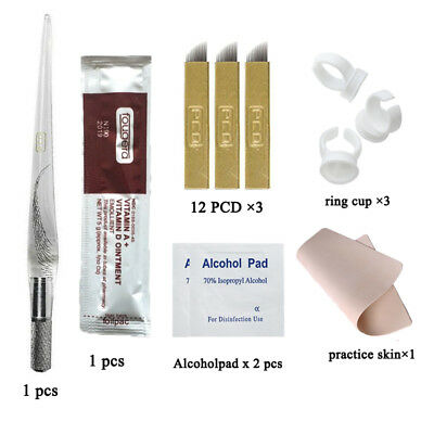 Microblading Practice Kit Eyebrow Tattoo Microblades Manual Pen Practice Skin