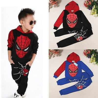 Autumn Toddler Boy Kids Outfits Clothes Tracksuits T-shirt+Pants Sets Age 2-7 Y