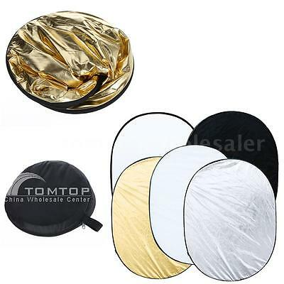 100X150CM 5 IN 1 Photo Studio Collapsible Light Reflector Diffuser + Case A3P4