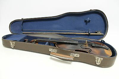 Antique vintage old German violin JACOBUS STAINER in wooden case-1780year