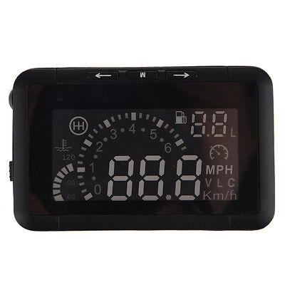 HUD Vehicle-mounted HeadUp Display System OBD Overspeed Warning Fuel Consumption
