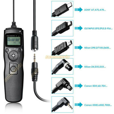 LCD Timer Shutter Release Remote Control for Canon,Nikon,Olympus,Sony Cameras