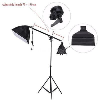 Photo Studio Overhead Boom Arm Top Light Stand 75-138cm for Softbox Light E9Y5