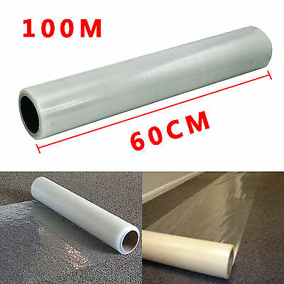 60Cm X 100M Roll Self Adhesive Carpet Protector Protection Film -60 Micron Thick