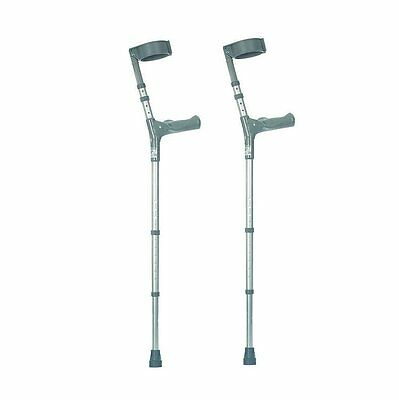 NRS Healthcare Double Adjustable Crutches with Comfy Handle, with-pair