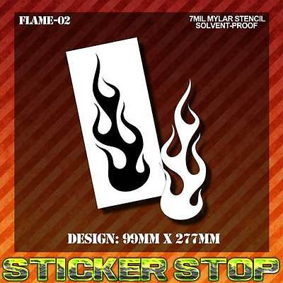 FLAME MYLAR STENCIL (Airbrush, Craft, Texture, Re-usable)