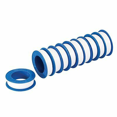 Silverline 250475 PTFE Tape 12 m - Pack of 10