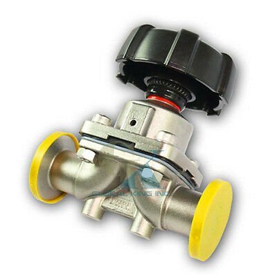 """2-1/2"""" Stainless Steel 316L Tri-Clamp OD 77mm Sanitary Diaphragm valve Water Oil"""