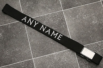 Personalised Luggage baggage Strap Embroidered with ANY NAME + Combination Lock