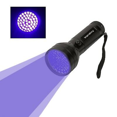 Vansky 51 LEDs Blacklight Flashlight Pets Ultra Violet Urine and Stain Detector