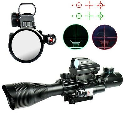 Tactical 4-12X50EG Rifle Scope With Holographic 4 Reticle Sight Mini Red Laser