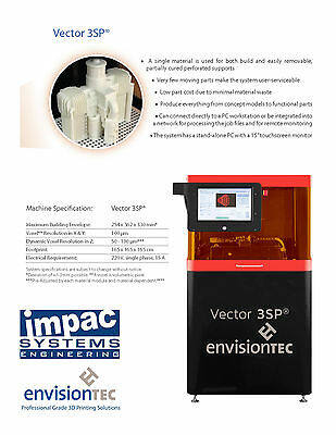EnvisionTec 3D Printer - Vector 3SP