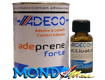 COLLA PER GOMMONI IN NEOPRENE/HYPALON ADECO ''ADEPRENE FORTE''500ml +ATTIVATORE