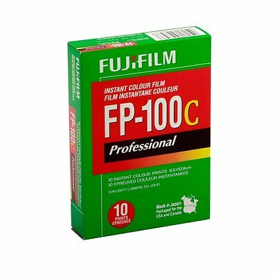 10 Prints Fujifilm Fuji FP-100C Instant Color Film FRESH FILM