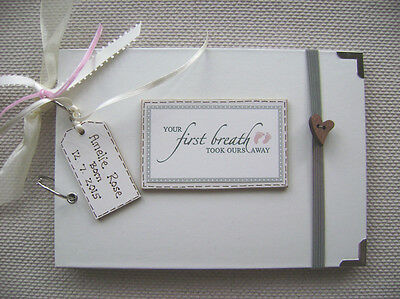PERSONALISED BIRTH/BABY/ A5 SIZE.30 pages .. PHOTO ALBUM/SCRAPBOOK/MEMORY BOOK