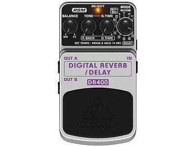 BEHRINGER DR400 Digital Reverb / Delay EFFETTO RIVERBERO/DELAY DIGITALE A PEDALE